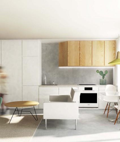 projekt wnetrza  studio widok 3  interior design Lublin Piotr Wolinski Architektura